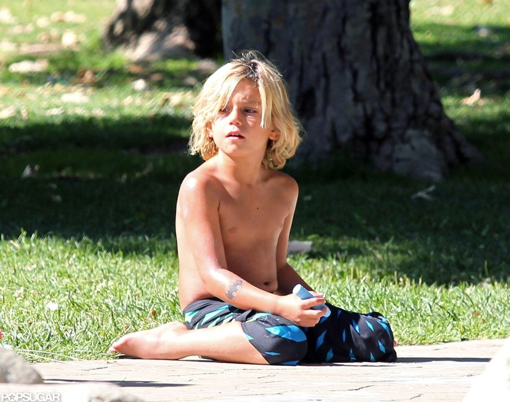 Kingston Rossdale enjoyed some sun while hanging with his brother Zuma and mom Gwen Stefani.