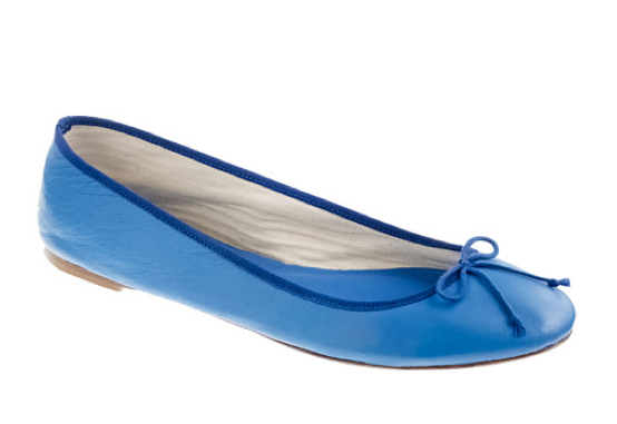 A no-fail ballet flat in a gorgeous cobalt-blue hue? We're totally sold. J.Crew Classic Leather Ballet Flats ($125)