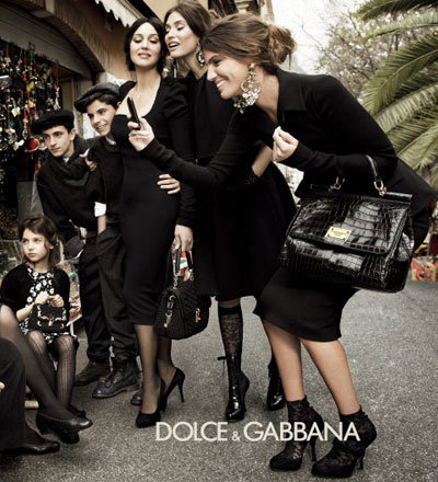 Monica Bellucci, Bianca Brandolino D'Adda + Bianca Balti Live La Dolce Vita on Dolce & Gabbana's Autumn Winter Campaign Shoot