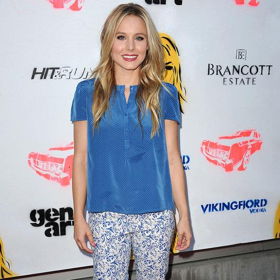 Kristen Bell Wearing Printed Jeans