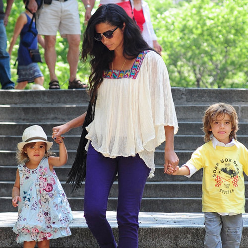 Camila Alves With Levi and Vida at Central Park Zoo