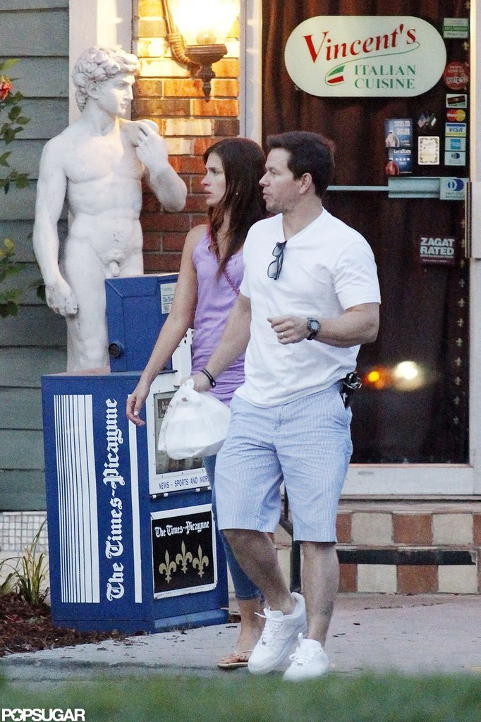 Mark Wahlberg and Rhea Durham left a restaurant in New Orleans after having a date night.