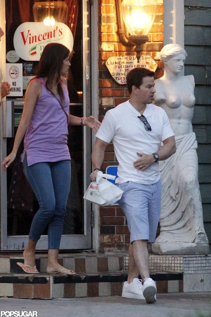 Mark Wahlberg and Rhea Durham kept their date night casual.