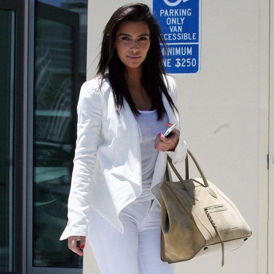 Kim Kardashian Wearing All White Outfit