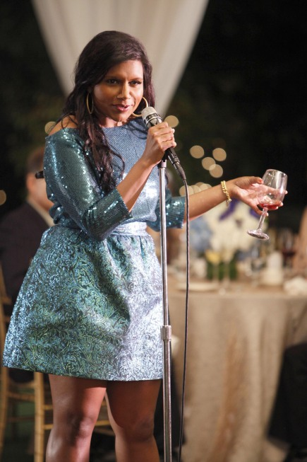 Mindy Kaling on The Mindy Project.