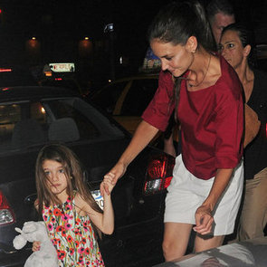 Katie Holmes With Suri in NYC After Divorce News