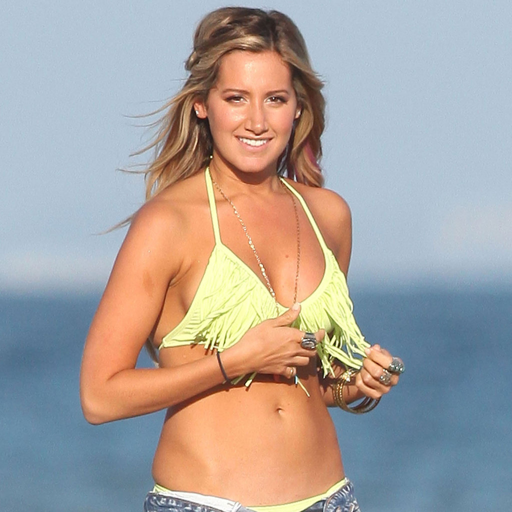 Ashley Tisdale Bikini Beach
