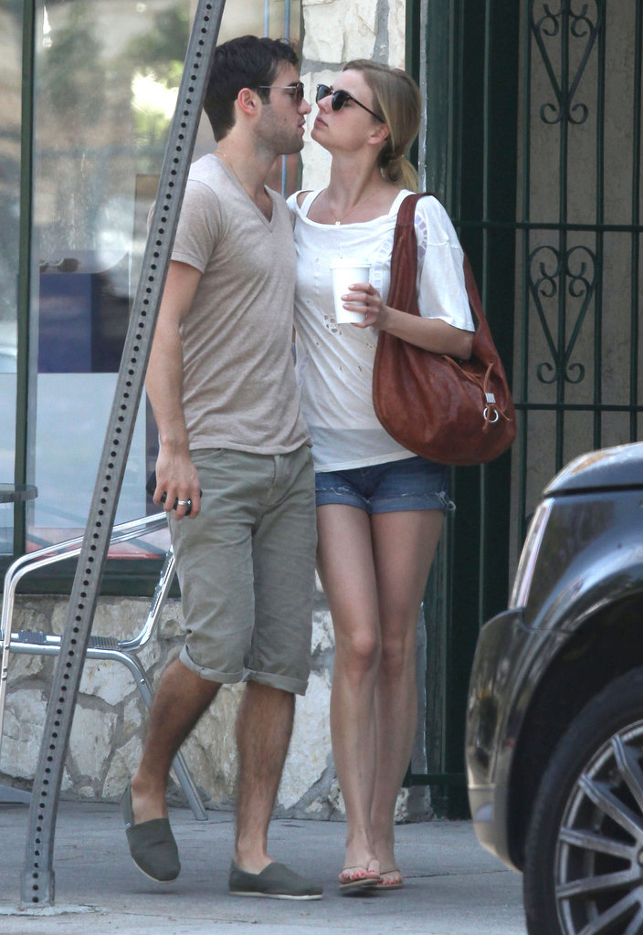 Emily VanCamp and Joshua Bowman walked out of brunch together in LA.