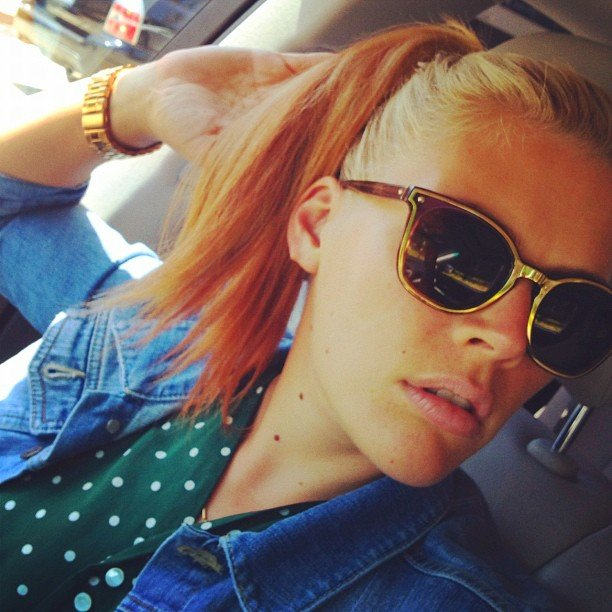 Busy Philipps showed off a sorbet-colored new hairstyle. Source: Instagram User busyphilipps