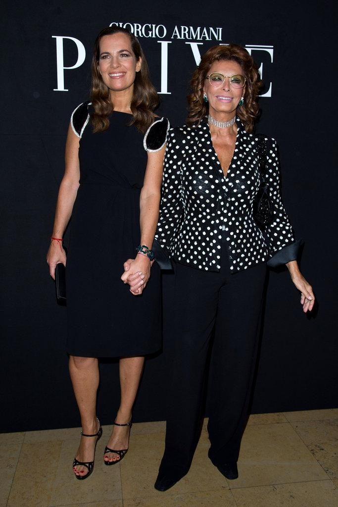 Roberta Armani and Sophia Loren
