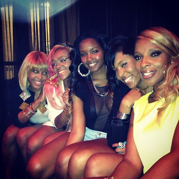 Mary J. Blige shared this photo of her and her friends celebrating the Fourth of July. Source: Instagram user brooklynnblige