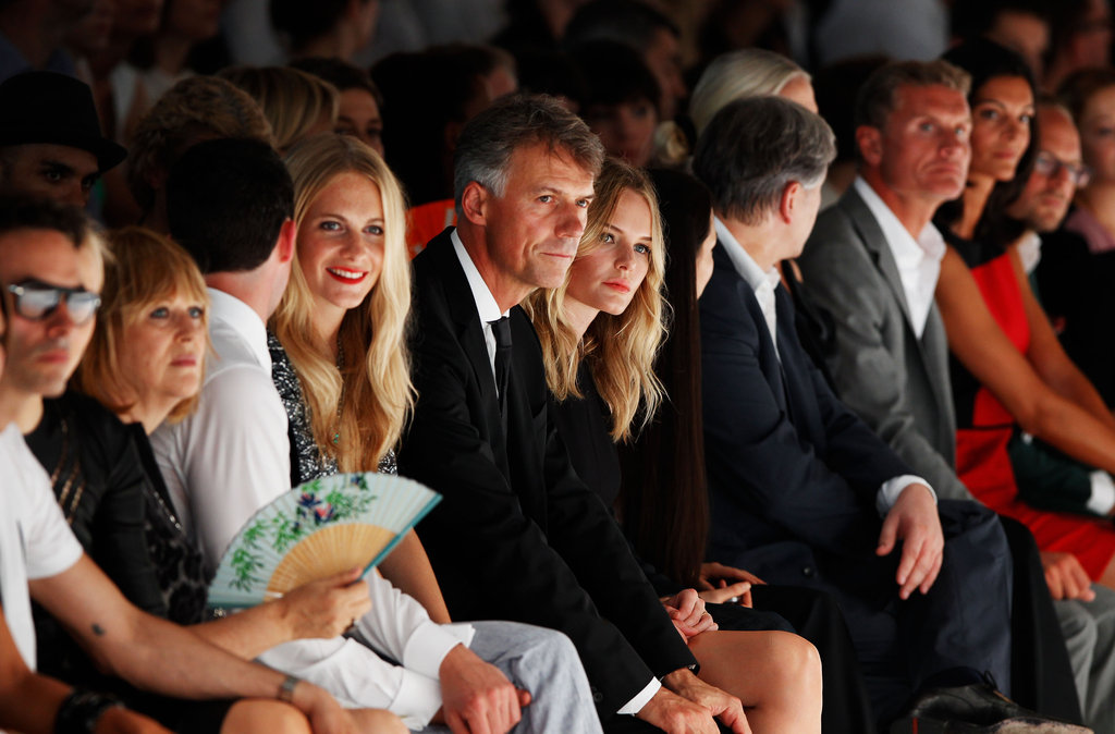 Kate Bosworth sat front row at the Hugo by Hugo Boss fashion show in Berlin.