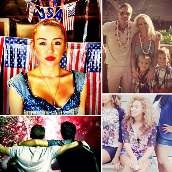 Miley, Britney, Beyoncé, and More Stars Share Their Fourth of July Fun