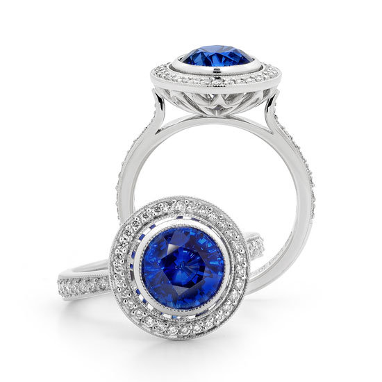 Sapphire and diamond ring, POA, Fairfax & Roberts, stockists: (02) 9232 8510