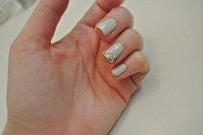 DIY Nail Art With Diamantes and Nail Polish