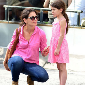 Katie Holmes and Suri Cruise Wear Matching Pink in NYC