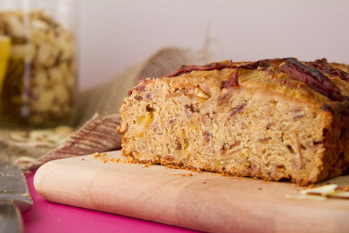 Vegan and Gluten-free Almond Peach Bread