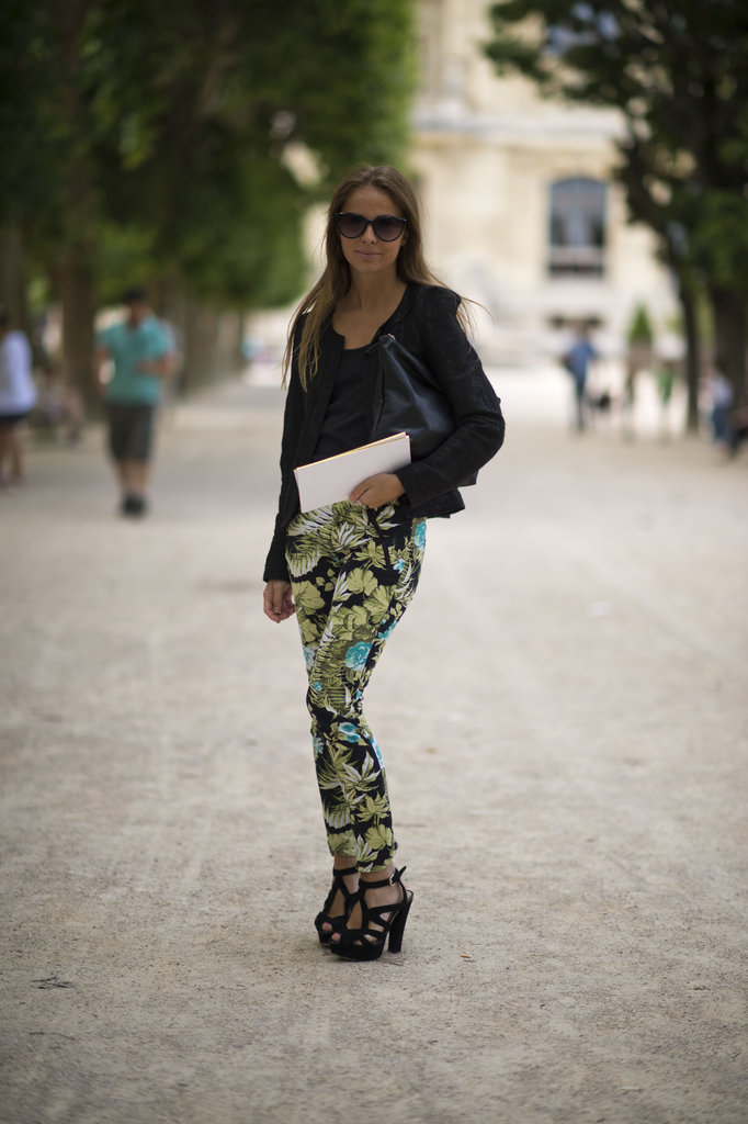 Revamp your casual gear with printed pants, then add in all of your favorite black tees and layers to make the pattern pop even more. Photo courtesy of Adam Katz Sinding