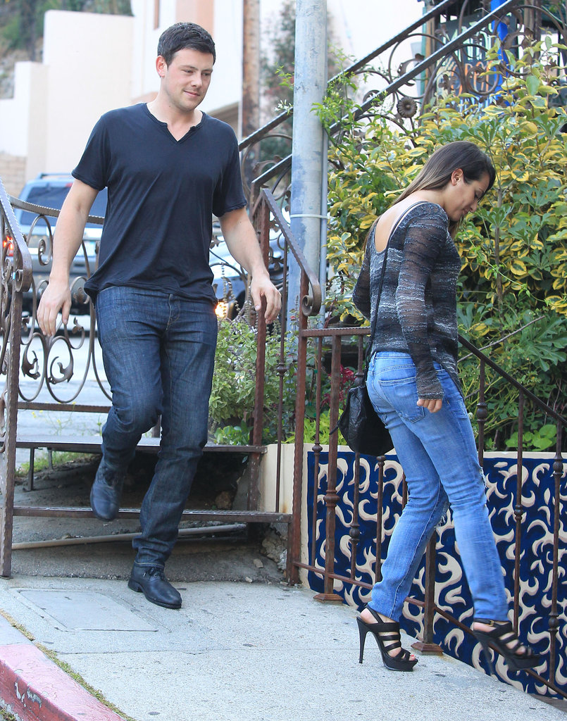 Glee's Cory Monteith and Lea Michele went on a date.