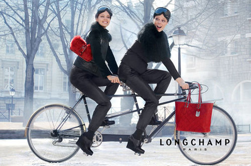 How cute is this wintry ad from Longchamp?