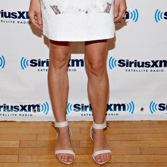 Diane Kruger Wearing White Flat Sandals