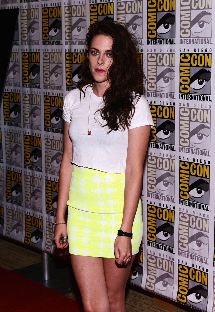 Kristen Stewart wore a crop top.