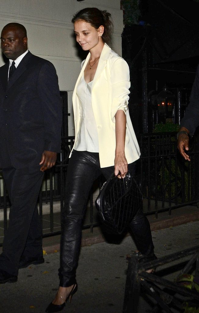 Katie Holmes went out for a meal.