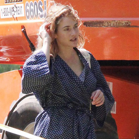 Kate Winslet on the Set of Labor Day
