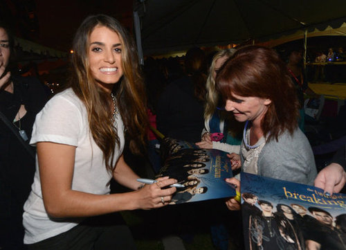 Nikki Reed spent time with fans outside of the Breaking Dawn Part 2 party at Comic-Con.