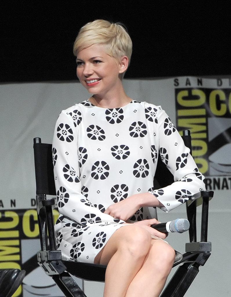 Michelle Williams smiled at Comic-Con.