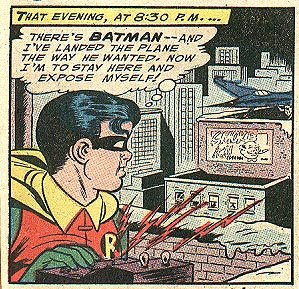I think Robin has an arrest for indecent exposure coming up! Source: DC Comics