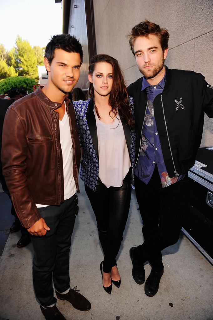 Robert Pattinson, Kristen Stewart and Taylor Lautner Get Boards For ...