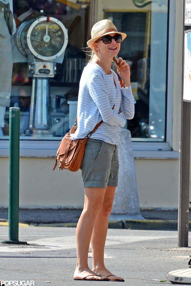 Naomi Watts was all smiles on vacation.