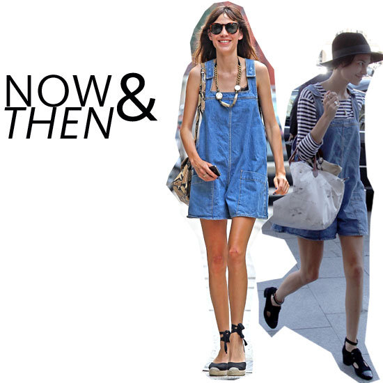 Alexa Chung's Double Duty Denim Overalls: Work It Winter To Summer