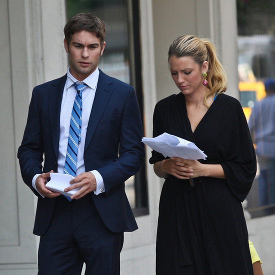 Blake Lively on Gossip Girl Set | Pictures