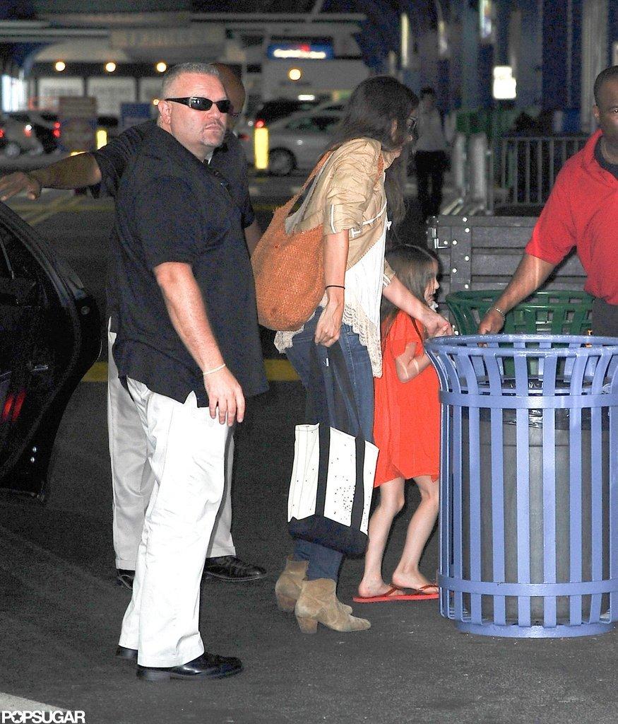 Katie Holmes took her daughter Suri Cruise to Chelsea Piers.