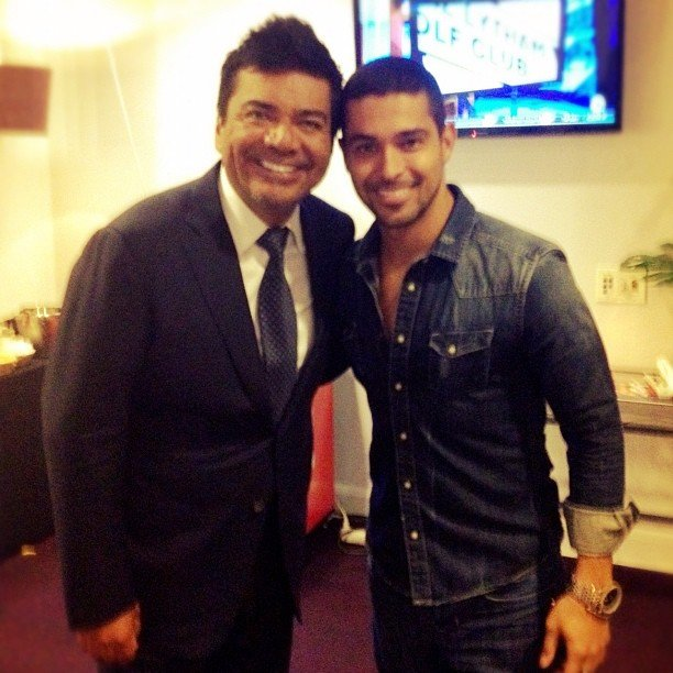 Wilmer Valderrama posed with George Lopez after attending his stand-up comedy show. Source: Instagram user wilmervalderrama
