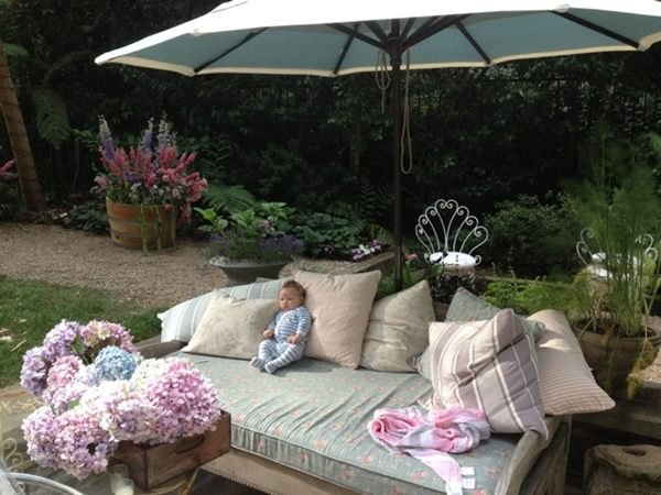 Jessica Simpson snapped a photo of baby Maxwell propped up next to some pillows. Source: Twitter user JessicaSimpson