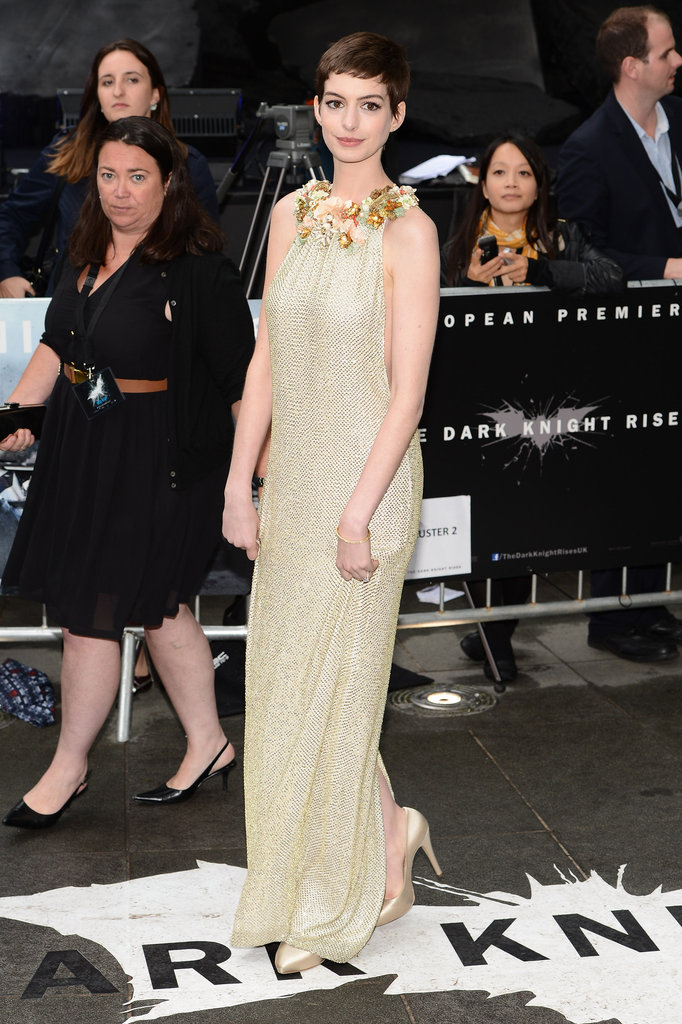 Anne Hathaway lit up the red carpet in London.