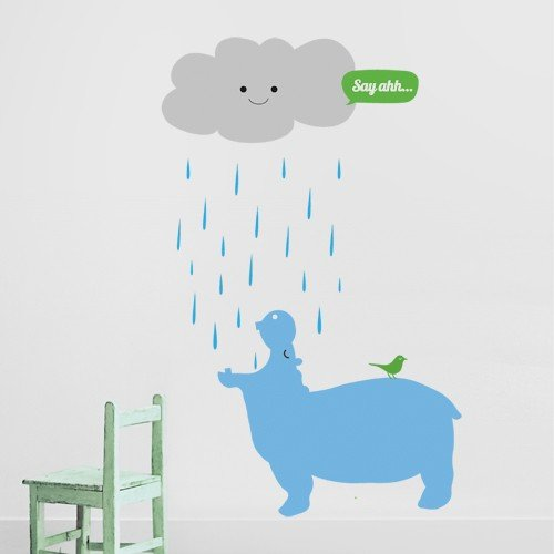 Wall Decal Hippo ($65)