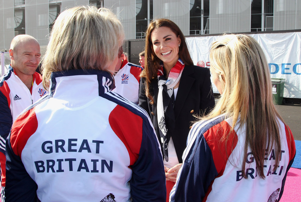 Kate talked it up with Olympians.