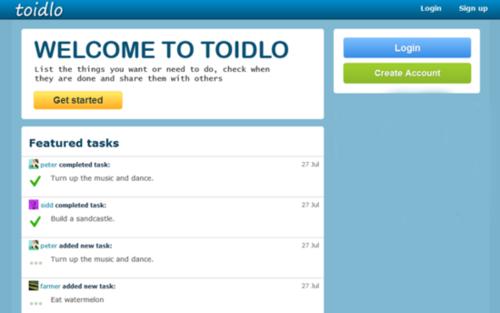 Toidlo - Soicial To - Do List