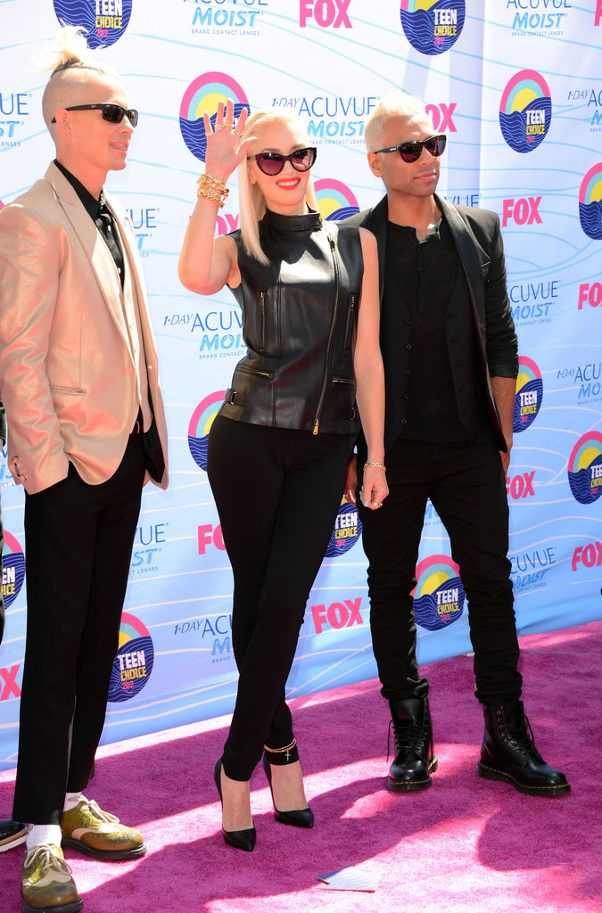 Adrian Young, Gwen Stefani and Tony Kanal of No Doubt