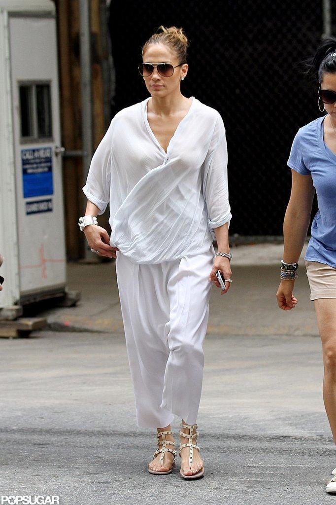 Jennifer Lopez strolled through NYC.