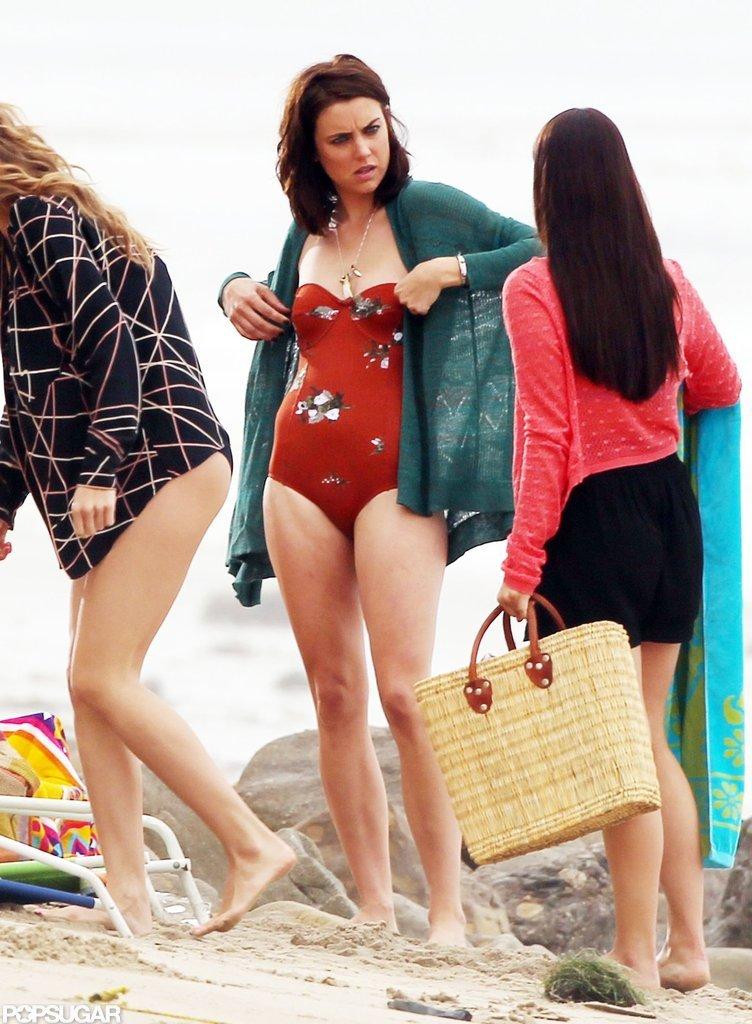 The Girls of 90210 Break Out Their Bikinis