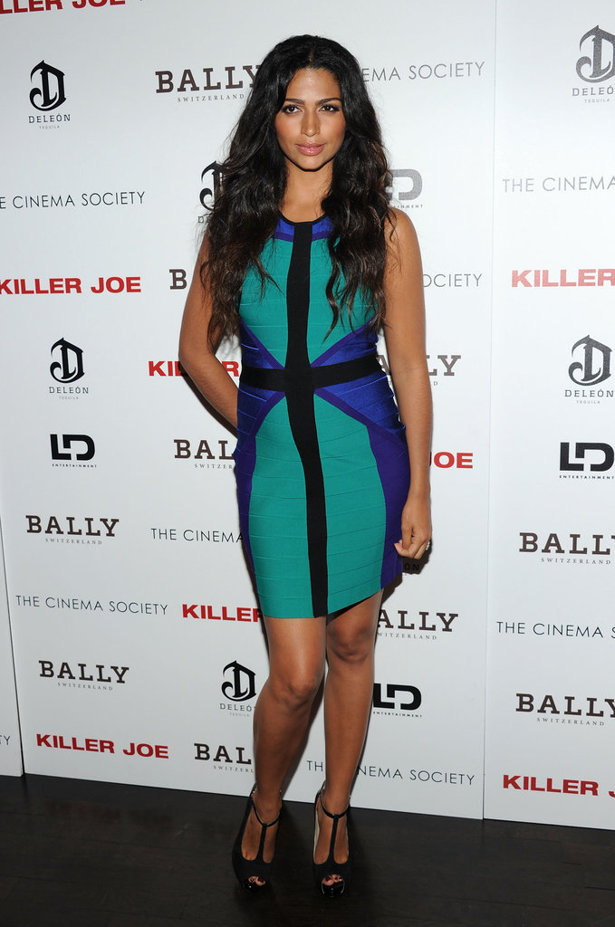 Camila Alves showed off her growing belly at a screening of Killer Joe.