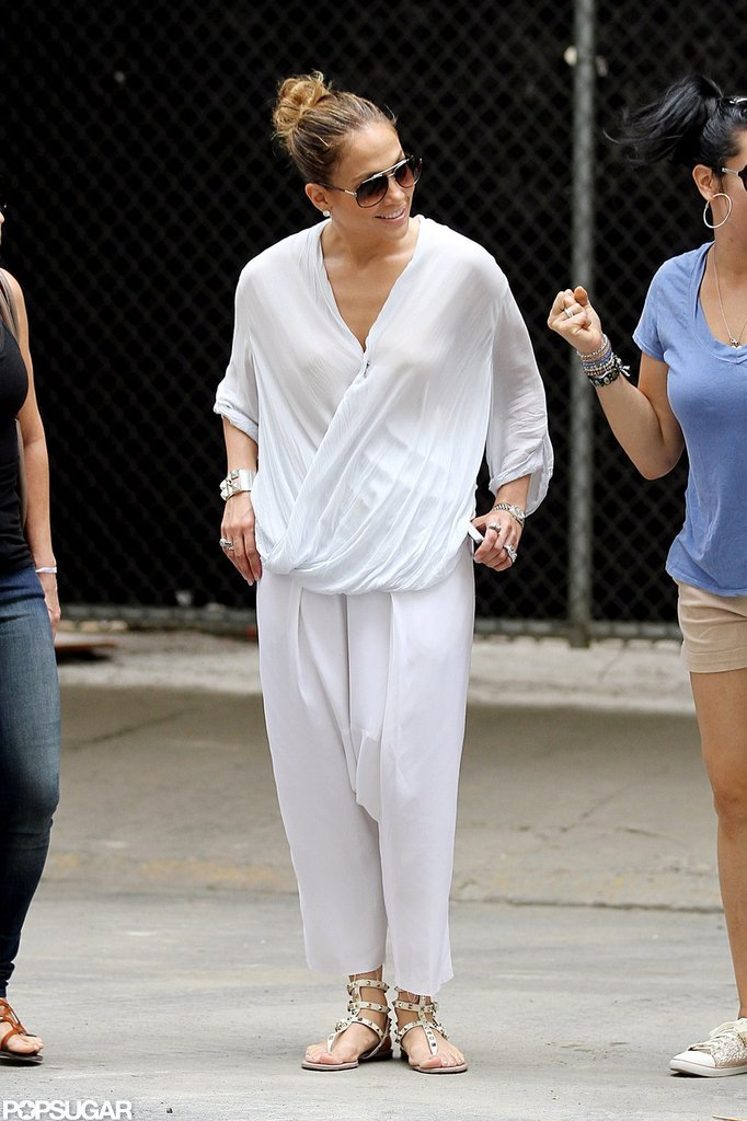 Jennifer Lopez smiled in NYC.
