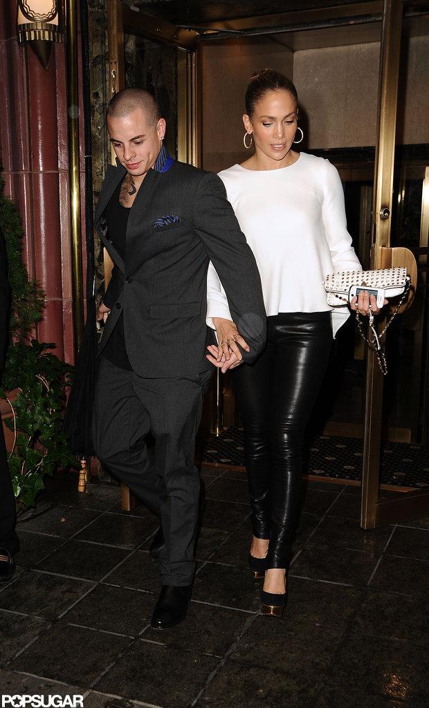 Jennifer Lopez and Casper Smart left dinner together in NYC.
