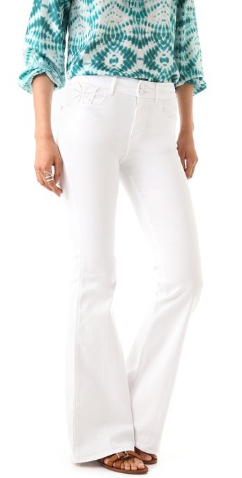 Every style-setter needs a pair of white, flared jeans in her wardrobe. They're classic and sleek. Habitual Harrison Bell Bottom Jeans ($139, originally $198)