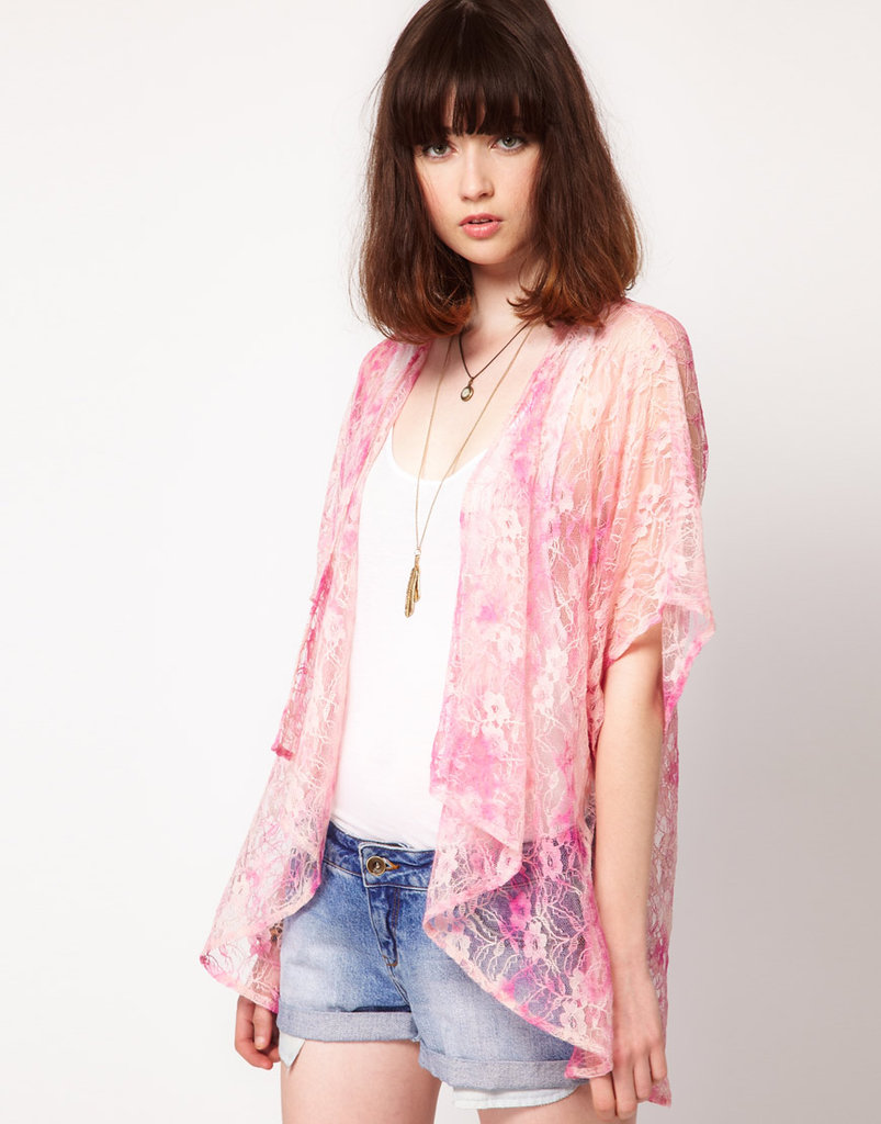 This semi-sheer kimono jacket will inject a fun pop of texture to a | 40 Ways to Hit the Music ...